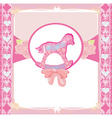 Rocking Horses - baby girl baby shower invitation vector image vector image
