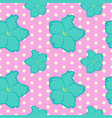 seamless floral pattern with blue violet flowers vector image vector image