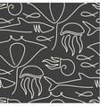 Seamless pattern made of sea fauna vector image