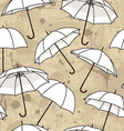seamless pattern with bright umbrellas vector image vector image