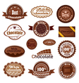 set chocolate badges vector image vector image
