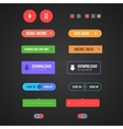 set colored web buttons vector image vector image