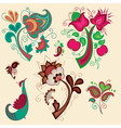 Set of russian patterns vector image vector image