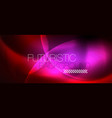 shiny neon circles abstract background vector image vector image