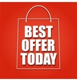 Shopping bag on a bright background with the vector image vector image