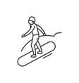 snowboard line icon concept snowboard vector image vector image