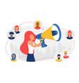 social media community referral program concept vector image