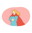 superhero superman power concept vector image