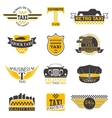 Taxi sign set vector image