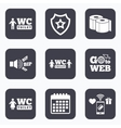 Toilet paper icons Gents and ladies room vector image vector image