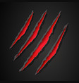 wild animal monster claws scratches easy editable vector image