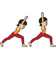 yoga asana set warrior one vector image