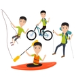 Outdoor sport and active lifestyles vector image