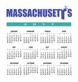 2017 Mass calendar vector image
