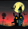 scary house - halloween background vector image