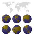 world map set vector image