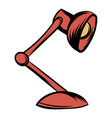 red table lamp icon cartoon vector image