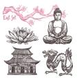 Asian Sketch Set vector image