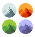 color mountain icons set on white background vector image