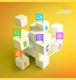3d cubes and business pointers background vector image