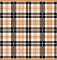 Black and tan tartan plaid seamless pattern