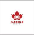 canadian education logo library learning writer vector image vector image