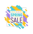 colorful pixel spring sale template vector image vector image