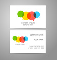 communication dialog speech bubble logo vector image vector image