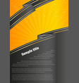 dark infographic paper on yellow background vector image vector image