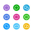 different color web icons social media pictograms vector image vector image