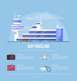 easy traveling concept for travel agency vector image vector image