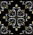 embroidery damask seamless pattern tapestry vector image vector image