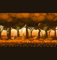 fairy forest bright forest woods silhouttes vector image vector image