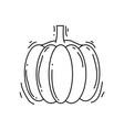 farming pumpkin icon hand drawn icon set outline vector image