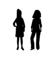 female business woman silhouettes vector image