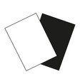 flat black and white referee cards vector image