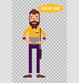 flat characters on transparent background vector image vector image