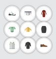 flat icon clothes set of banyan singlet clothes vector image vector image