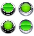 Green 3d buttons vector image vector image