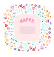 Happy greeting card template with text space