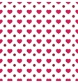 Heart and circle seamless pattern vector image vector image