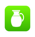 jug of milk icon digital green vector image
