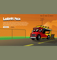landing page design food truck vector image vector image