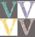 letter v vector image vector image