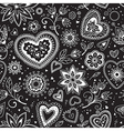 Love hearts seamless pattern 3 vector image vector image