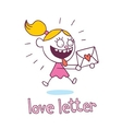 love letter little girl in love vector image vector image