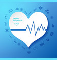 medical background with heart symbol vector image