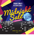 Midnight Sale Banner vector image vector image