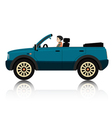 New car travel vector image