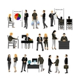 Office workers set vector image